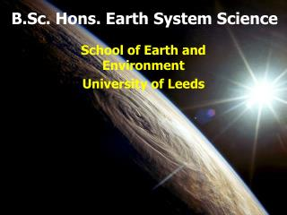 B.Sc. Hons. Earth System Science