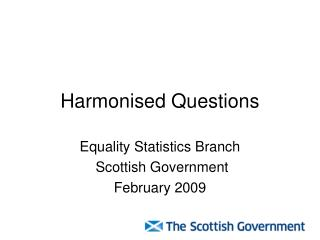 Harmonised Questions