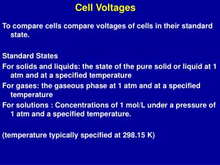 Cell Voltages