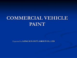 COMMERCIAL VEHICLE PAINT