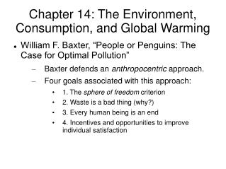 Chapter 14: The Environment, Consumption, and Global Warming
