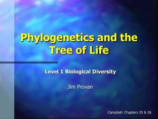 Phylogenetics and the Tree of Life