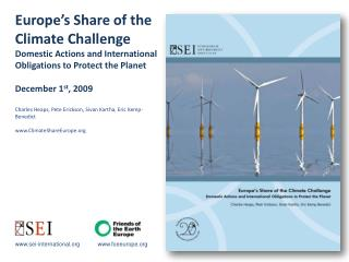 www.sei-international.org           www.foeeurope.org