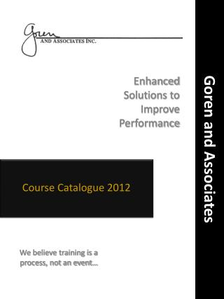 Course Catalogue 2012
