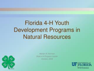 Florida 4-H Youth Development Programs in Natural Resources