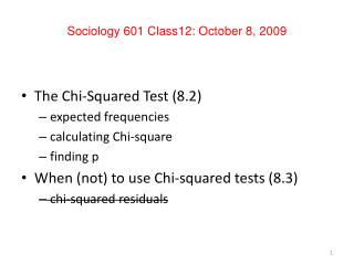 Sociology 601 Class12: October 8, 2009