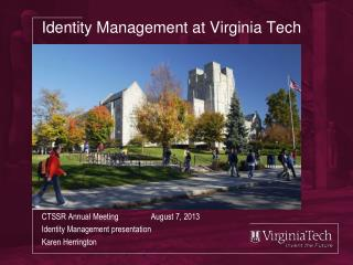Identity Management at Virginia Tech