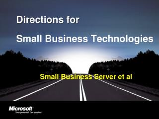Small Business Server et al