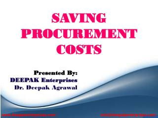 SAVING PROCUREMENT COSTS