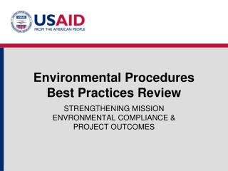 Environmental Procedures  Best Practices Review