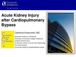 Acute Kidney Injury after Cardiopulmonary Bypass