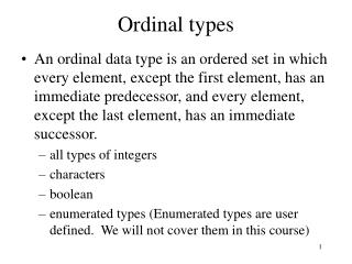Ordinal types