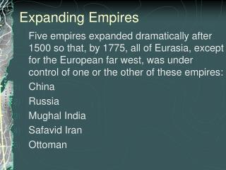 Expanding Empires