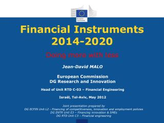 Financial Instruments 2014-2020