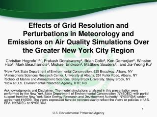 Effects of Grid Resolution and Perturbations in Meteorology and Emissions on Air Quality Simulations Over the Greater N