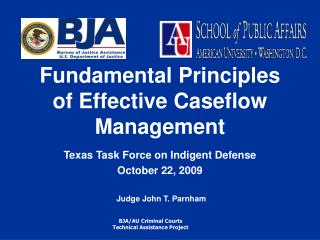 Fundamental Principles of Effective Caseflow Management