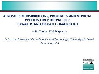 A.D. Clarke, V.N. Kapustin School of Ocean and Earth Science and Technology, University of Hawaii, Honolulu, USA