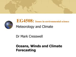 EG4508:  Issues in environmental science