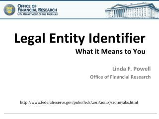 Legal Entity Identifier What it Means to You