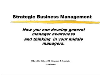 Strategic Business Management