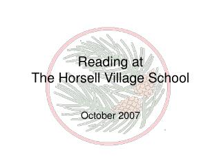 Reading at  The Horsell Village School