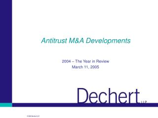 Antitrust M&A Developments