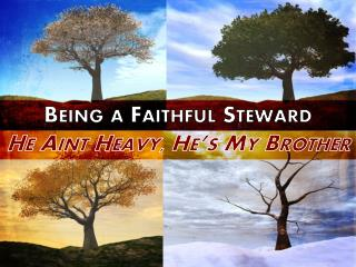 Being a Faithful Steward He  Aint  Heavy, He's My Brother