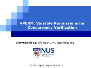 VPERM: Variable Permissions for Concurrency Verification