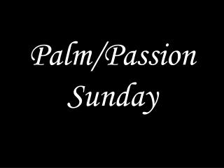 Palm/Passion Sunday