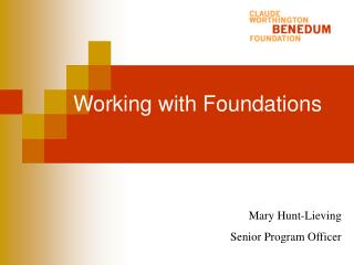 Working with Foundations