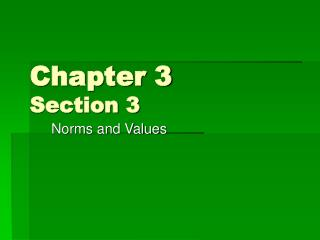 Chapter 3  Section 3