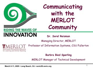 Communicating with the MERLOT Community