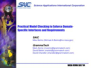Practical Model Checking to Enforce Domain-Specific Interfaces and Requirements
