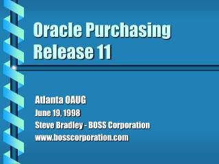 Oracle Purchasing Release 11