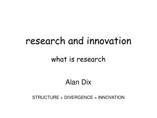 research and innovation what is research