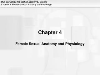 Chapter 4 Female Sexual Anatomy and Physiology