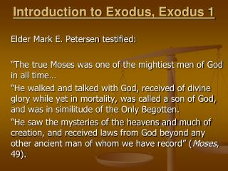 Introduction to Exodus, Exodus 1