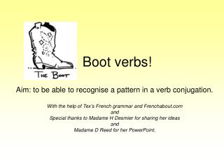 Boot verbs!