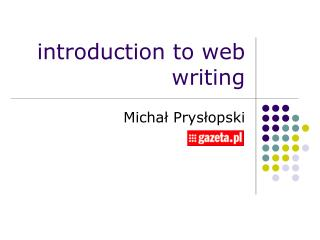 introduction to web writing