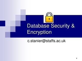 Database Security & Encryption