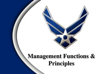 Management Functions &  Principles