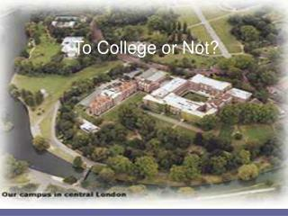To College or Not?