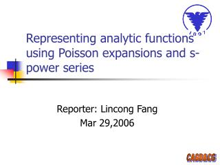 Representing analytic functions using Poisson expansions and s-power series
