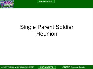 Single Parent Soldier Reunion