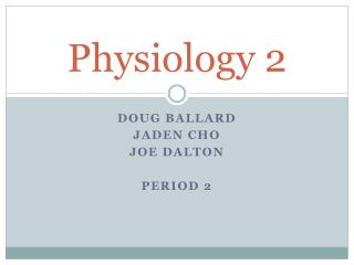 Physiology 2