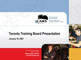 Toronto Training Board Presentation