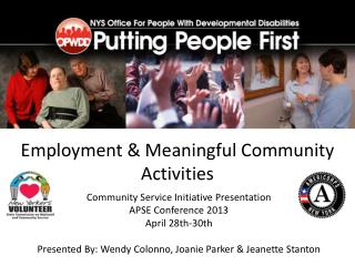Employment & Meaningful Community Activities