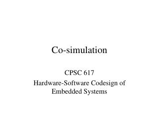 Co-simulation