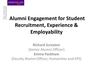 Alumni Engagement for Student Recruitment, Experience & Employability