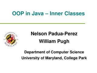 OOP in Java – Inner Classes